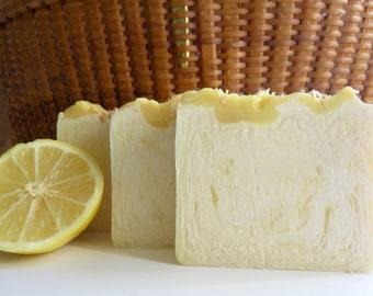 Coconut Lemon Verbena Soap, All Natural Soap, Handmade Soap, Cold Process Soap,Homemade Soap, Bar Soap, New Hampshire Soap, Bath Soap