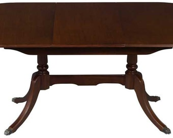 joined pedestal oval dining room table. beautiful ideas. Home Design Ideas