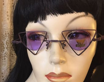 Vintage dead stock 1980s sunglasses , new wave, abstract , party, free shipping !!