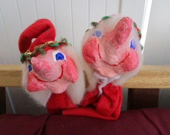 Pair of Vintage Punch and Judy Style Puppets