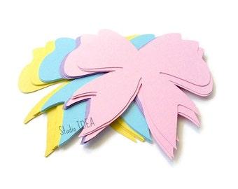 "Mixed Pastel Colors 2"", 4"" Bow Cut-outs, Confetti - Set of 30pcs, 60pcs-or Choose Your Colors"