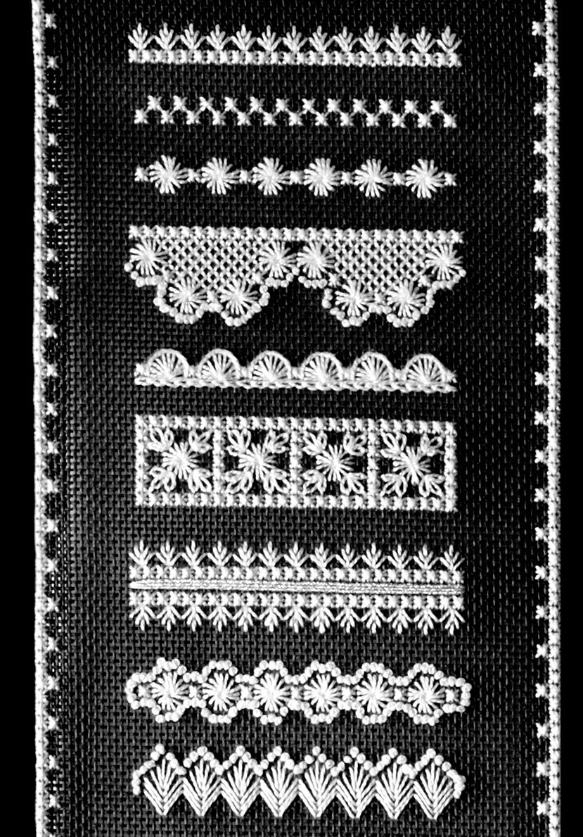 Embroidery sampler kit hapsburg lace runner hand