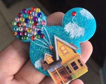 Handmade UP inspired mickey brooch