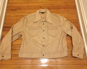 New Vintage USA Made 1990s LEE Light Brown Cotton Jacket