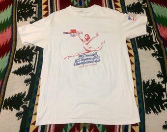 1988 Mcdonalds US Gymnastics Champions Tshirt Large/Xlarge