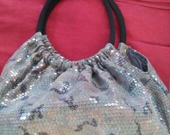 1980s Sequin Camouflage Handbag