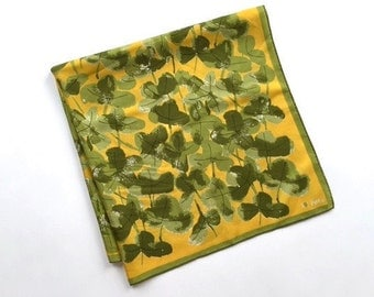 Wonderful Large Square Silk Scarf with Clover by Vera