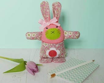Bunny Plush - Rabbit Toy - Easter gift for child - Gift for Rabbit Lover - Worry Eater Rabbit Soft Toy - Felt Bunny Rabbit  - CE tested