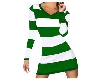 Green + White Stripe Spirit Dress