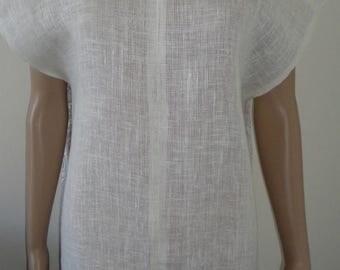 Women's linen blouse - dress