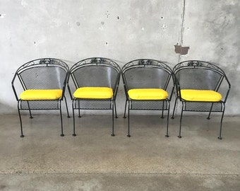 Set of Four 1950's Patio Chairs by Salterini (9YBXHU)