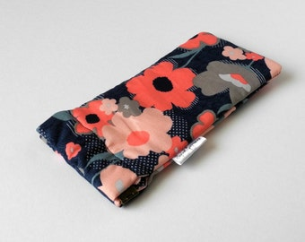 Cute Sunglasses Case, Padded Glasses Pouch Protective Glasses Case Snap Shut Cute Glasses Case Pretty Flowers Gift for Her Purse Accessory