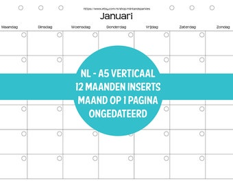Planner inserts A5/A4 - NL- MO1P - verticaal - ongedateerd