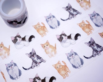 SALE!!Cats Washi Tape/Deco Masking Tape/Planner Sticker/ Scrapbook Tape/ Deco tape  TZ1537