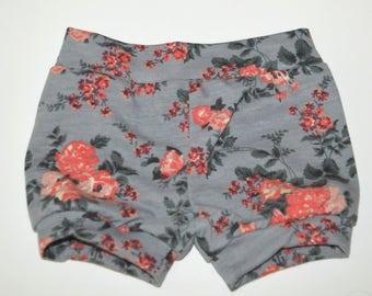 flower baby shorts  Grey baby shorts, Baby girl clothing, baby girl, baby shorts, baby girl shorts