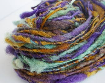 Urchin Lock Spun Single Handspun Art Yarn