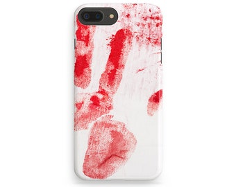 Blood Hand iPhone Case, iPhone 6 Case, Blood iPhone 7, iPhone 7 Plus, iPhone 6 Plus, iPhone 7 Cover, Sign Phone Cover, Blood iPhone 4S-5S