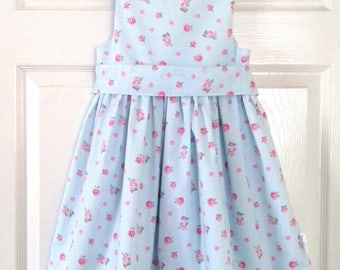 Girls Dress, Toddler Dress, Child's Dress, Party Dress, Holiday Dress, Floral Dress. Ages 6 Months - 8 Years