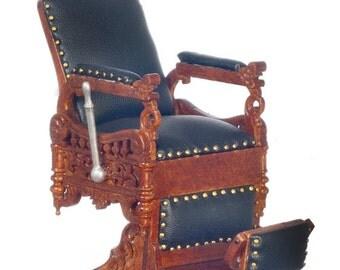 1:12 Scale JBM Miniature Barber Chair (Walnut)