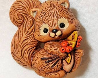 Vintage Hallmark Squirrel Lapel Pin