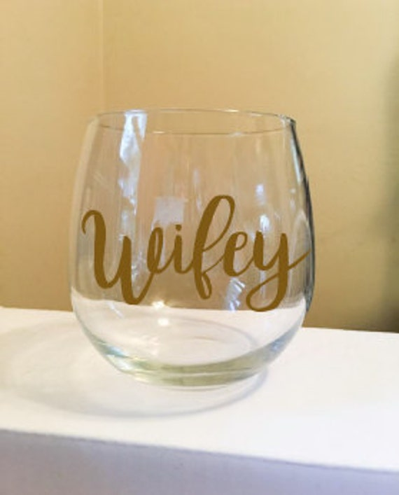Wifey Stemless Wine Glass