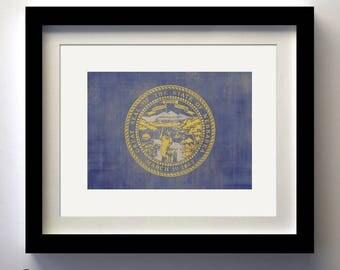 Nebraska State Flag Print