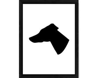 Greyhound Dog Silhouette PRINT