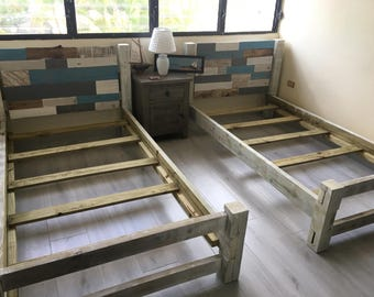 Twin Size Bed-frame, Hand Crafted headboard, Unique Bed, all sizes available, BF/#1