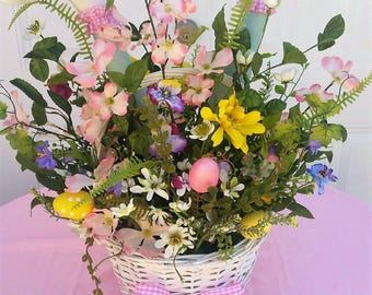 LG Easter Floral Arrangement - Spring Floral Arrangement - Easter Centerpiece - Easter Gift Idea - Spring Table Arrangement - Ready to Ship