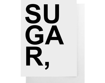 sugar note card