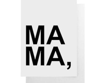 mama note card