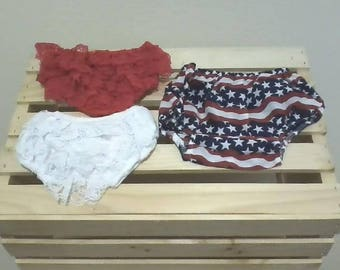 Vintage Lace Bloomers for Girls and Diaper Cover for Boys