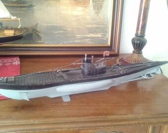 Submarine model vintage, metal