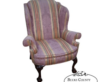 Kindel Winterthur Large Chippendale Ball U0026 Claw Foot Wing Chair