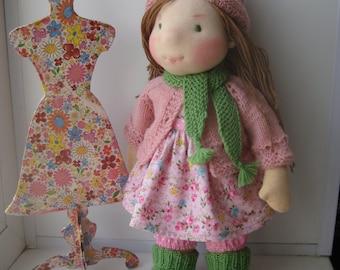 """Waldorf doll """"14"""", waldorf fabric doll, steiner doll, cloth doll, gift for girl, organic doll, waldorf toy"""