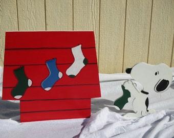 Peanuts Snoopy Christmas Yard Sign