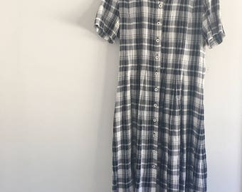 Black and White Checked Dress Vintage 90's