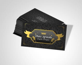 Business Cards (Landing Page (METALLIC-2 GOLD) Template)