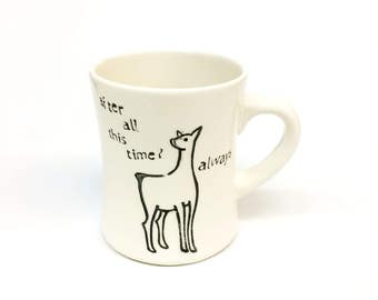 Snape Patronus After All This Time? Always Doe print diner style ceramic coffee or tea mug