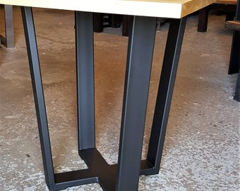 Modern Square Table. Modern trapezoid legs. Solid Sugar Maple. Stunning furniture for Dinning, Kitchen, Restaurant, Cafe, Bistro, Pub