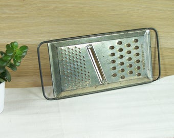 Multi-purpose grater, old grater, vegetables grater , slicer La Ménagère Made in France