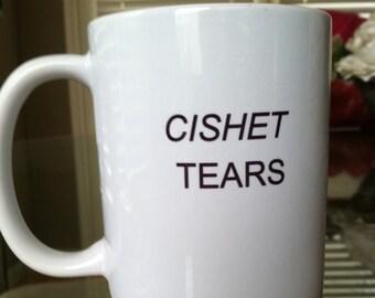 CISHET TEARS ||| Transgender Pride coffee mug