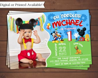 Mickey Mouse Invitation, Mickey Mouse Clubhouse Birthday