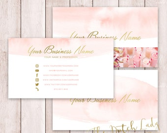 Photoshop Business Card - 3 Part Design - INSTANT DOWNLOAD - Layered .PSD Files - Design #2