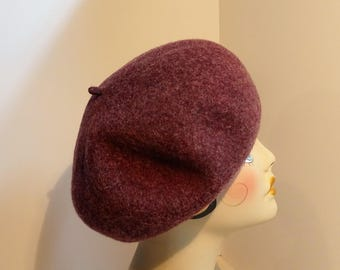 French Beret 1930's Glamour Fine Wool