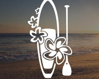 Paddle Board Die-Cut Decal Car Window Wall Bumper Phone Laptop