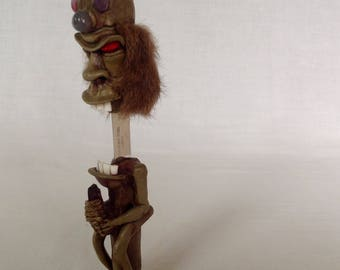 Pretty Awesome Witch Doctor Sculpture Concealing a Knife