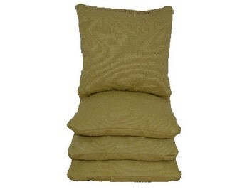 Khaki/Tan Cornhole / Corntoss Bags (4 Bags Included) | Corn Hole Bags | Bag Toss | Corn Toss | Bean Bag Toss | Bean Bag