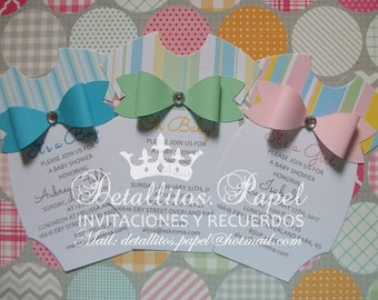 onesie Invitation, Onesie invitations, Baby Shower invitation, Onesie Invitation boy, Onesie girl invitation