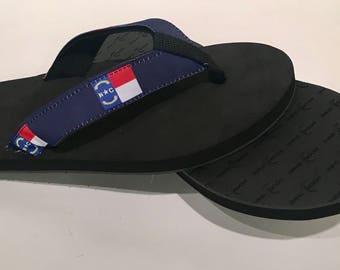 North Carolina Flag Sandals/Flip Flops.